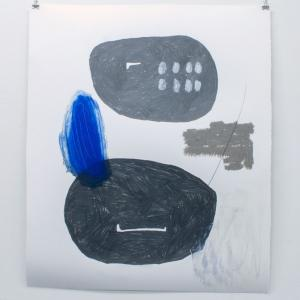 oO19,2020. Barra de óleo, medium y grafito sobe papel. 78 x 66 cm. DB-0011