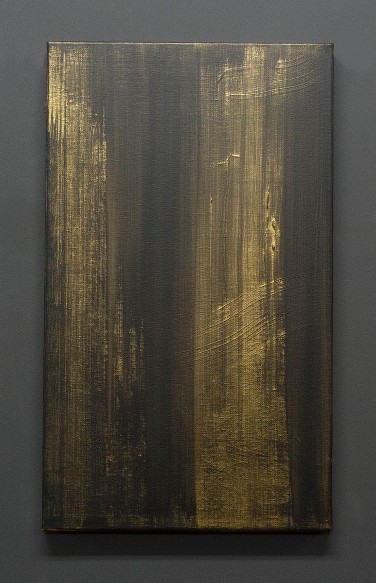 CAÍDA, 2016. Acrílico sobre lienzo. 46 x 27 cm