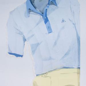 ARTHUR ASHE, 2018. Acrílico y acuarela sobre papel. 73,5 x 50 cm. MKL - 0359