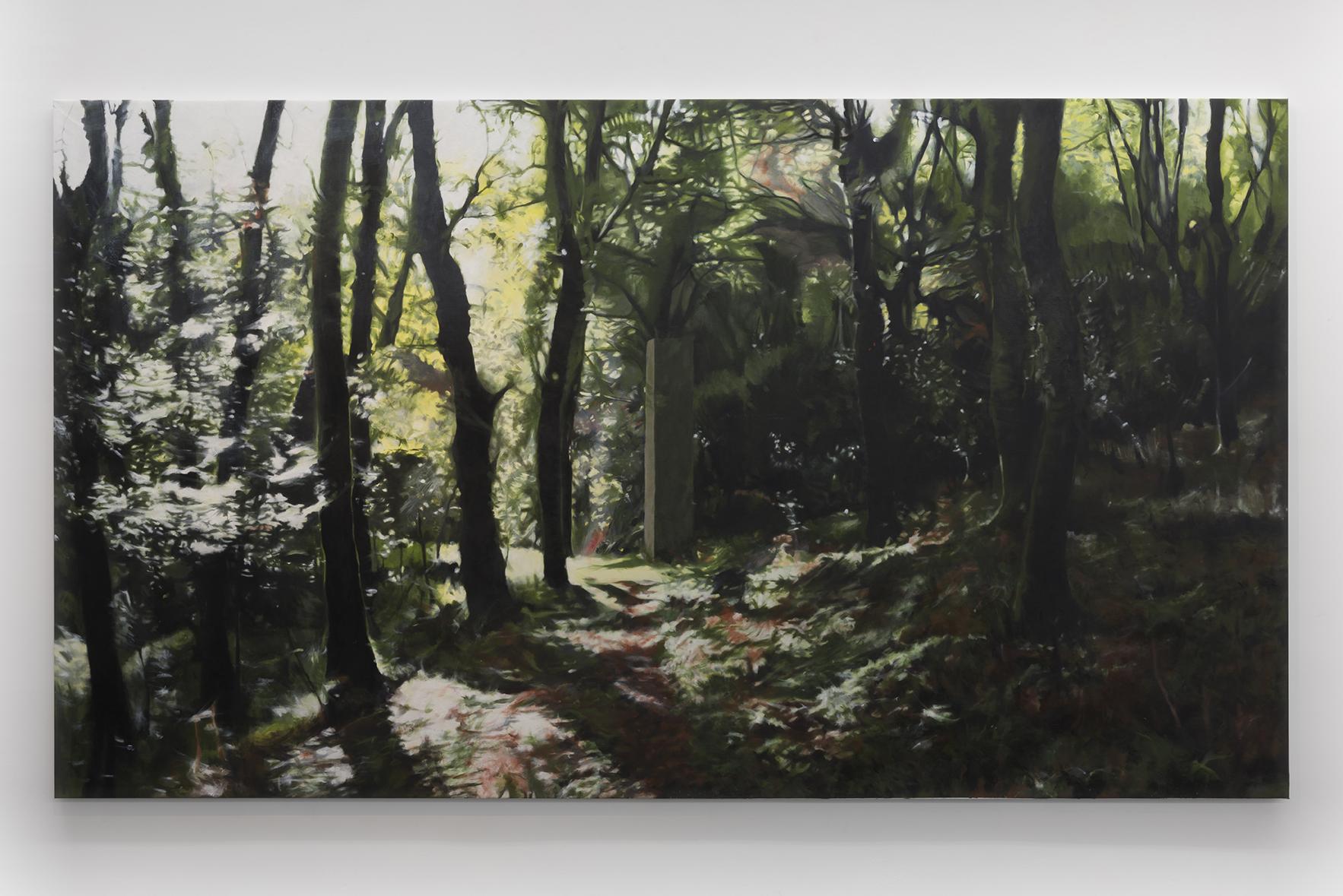 COLUMNA I, 2012-2015. Óleo sobre lienzo. 186 x 330 cm