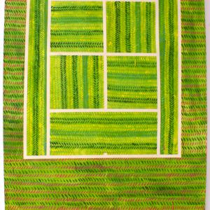 WIMBLEDON, 2016. Acrílico y acuarela sobre papel. 220 x 152 cm