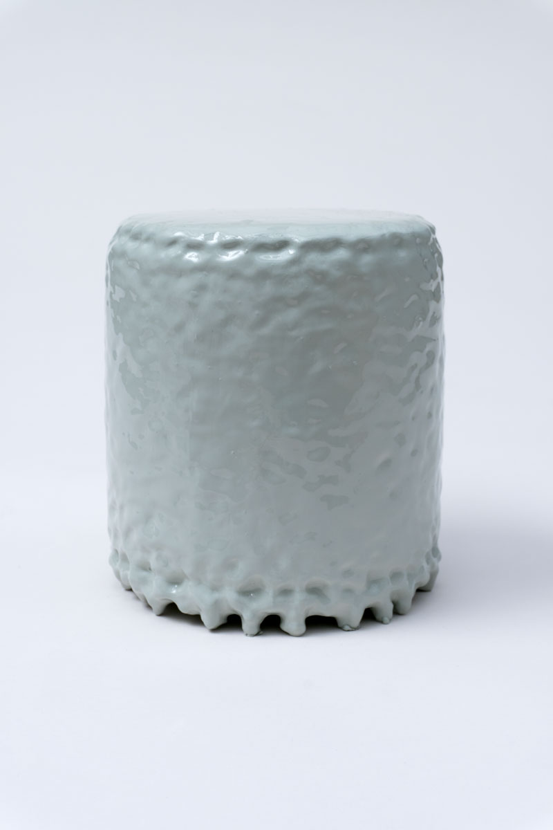 QUI CUSTODIETIPSOS CUSTODES (Bosque invernal). Acrílico sobre metal. 13.5 x 12 cm de diámetro. JP-0040