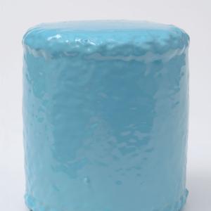QUI CUSTODIETIPSOS CUSTODES (Danubio azul). Acrílico sobre metal. 13.5 x 12.4 cm de diámetro. JP-0025