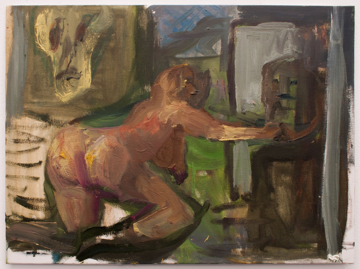 SEM TÍTULO, 2019. Óleo sobre lienzo. 30 x 40 cm. GP-0004