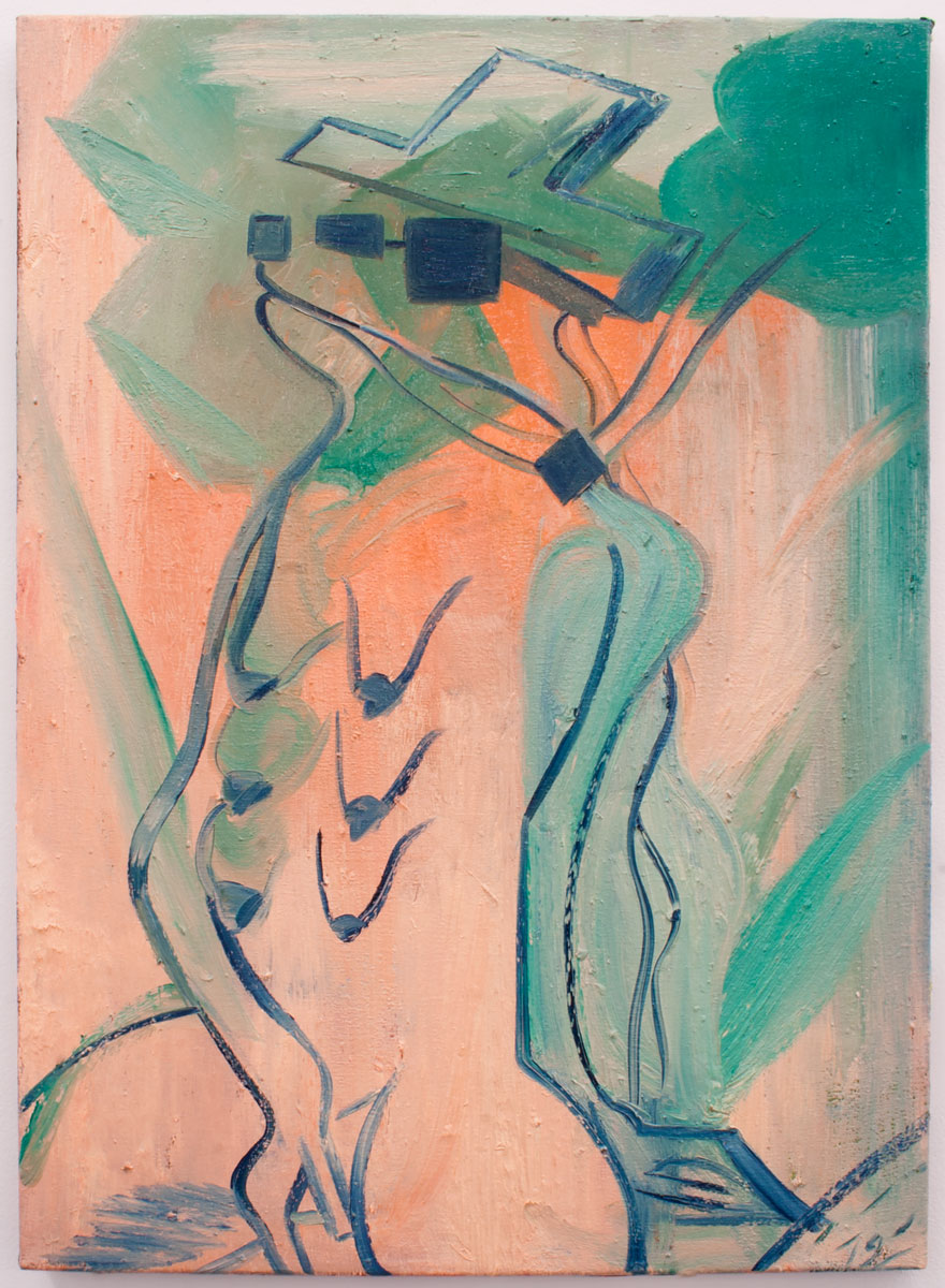 SEM TÍTULO, 2019. Óleo sobre lienzo. 70.5 x 50.5 cm. GP-0015