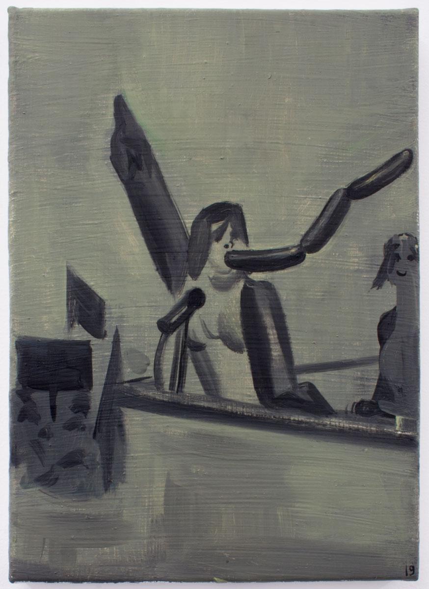 SEM TÍTULO, 2019. Óleo sobre lienzo. 35 x 25.3 cm. GP-0020