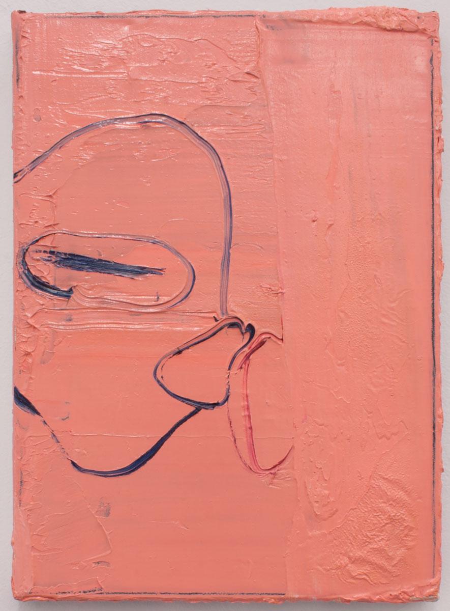 SEM TÍTULO, 2019. Óleo sobre lienzo. 35 x 25.5 cm. GP-0030