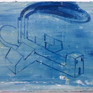 SEM TÍTULO, 2019. Óleo sobre lienzo. 33 x 46 cm. GP-0028