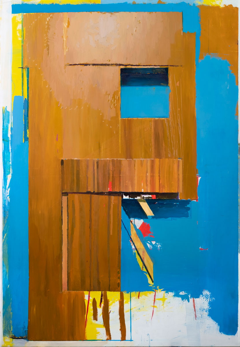 S/T (P.A.F.), 2020.Óleo y esmalte sobre lienzo. 240 x 166 cm. RG-0011
